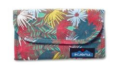 Kavu Big Spender Wallet, Island Bloom by KAVU. $19.95. Tri-fold wallet with snap closure. From the Manufacturer                Tri-fold wallet with snap closure, internal cash and checkbook slots, credit card and ID holders, pen slot and one external zip.                                    Product Description                Tri-fold wallet with snap closure, internal cash and checkbook slots, credit card and ID holders, pen slot and one external zip