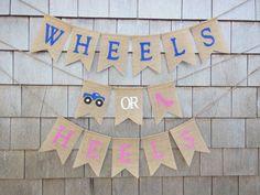Wheels or Heels Gender Reveal Wheels or by IchabodsImagination