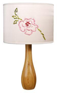 Ribbon embroidery lamp!