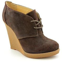Enzo Angiolini Flory Wedge Womens Dark Brown Suede Fashion Ankle Boots Size 5.5 #EnzoAngiolini #FashionAnkle