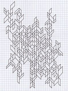 easy graph paper drawings easy things to draw on graph art in 2018