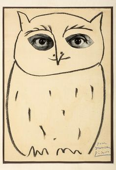 PABLO PICASSO  THE GREAT SNOW OWL  (SELF-PORTRAIT)