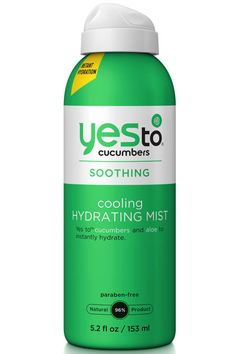 You'll want three of these soothing, spa water-like mists: One for your desk, one for the gym and another for the beach.   Yes to Cucumbers Cooling Hydrating Mist, $11, target.com.