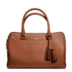 Coach :: International Legacy leather haley satchel  color: cognac