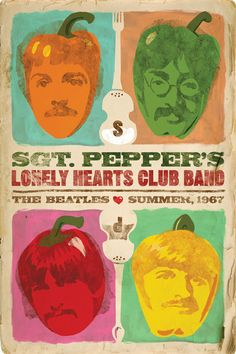 ☯☮ॐ American Hippie Classic Rock The Beatles ~ Sgt Pepper's poster Beatles Poster, Beatles Love, Beatles Art, Stuart Sutcliffe, Rock Posters, Band Posters, Music Posters, Vintage Concert Posters, Vintage Posters