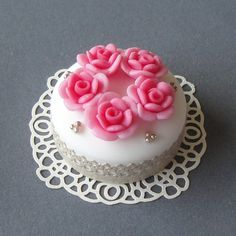 rose and silver gateau