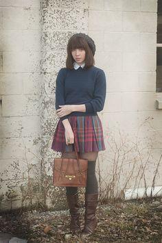 Darling plaid skirt