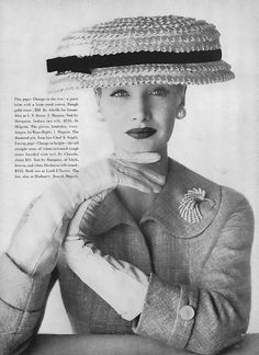 Adolfo for Emme millinery, 1956