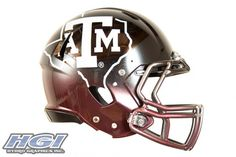 Texas AM Aggies State new chrome football helmet 1 687x458 New Texas A&M 2012 HydroSkin Football Helmet