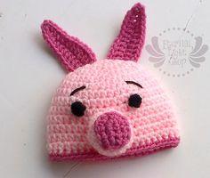 ALL SIZES Piggie Beanie by EternalLightShop on Etsy, $22.00