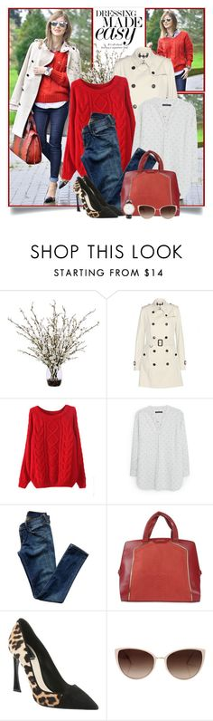 """Red Sweater & Leopard Pumps"" by brendariley-1 ❤ liked on Polyvore featuring Lux-Art Silks, Burberry, Violeta by Mango, Citizens of Humanity, Just Cavalli, Christian Dior, Oliver Peoples and Daniel Wellington"