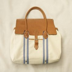 Leather Flap Tote