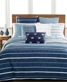 Hotel Collection Colonnade Blue Bedding Collection - Bedding Collections - Bed & Bath - Macy's