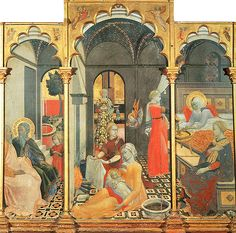 Birth of the Virgin with other Scenes from her Life, c. 1428-1439