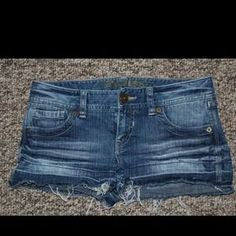 I just added this to my closet on Poshmark: NWT Express Distressed Denim Blue Jean Shorts Sz 0. Price: $25 Size: 0