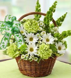 St. Patrick's Day Flower Basket