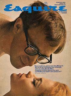 Vintage Esquire magazine, 1966, Woody Allen & Ann Margaret on cover