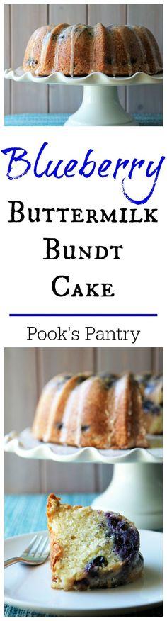 Blueberry Buttermilk Bundt | Pook's Pantry