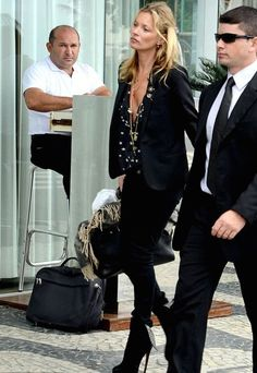 KAte moss..must be in front of the FASANO! Note the tile