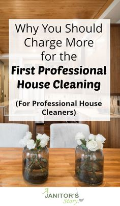 Here's an explanation as to why you need to charge more for the initial house cleaning. Your residential cleaning service should be compensated for ALL expenses and time used to clean homes. Deep Cleaning Checklist, Deep Cleaning Services, Residential Cleaning Services, Cleaning Companies, Deep Cleaning Tips, Cleaning Business, Diy Cleaning Products, Business Tips, Cleaning Supplies