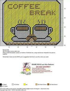 COFFEE BREAK MOUSE PAD by DAWNMARIE ABEL