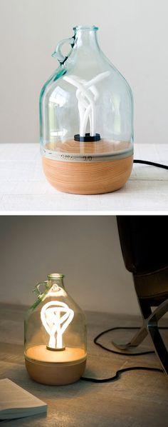 Luminária :: Reutilizando garrafa de vidro