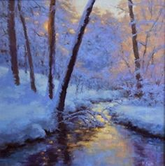 February Gold by Hillary Scott in the FASO Daily Art Show