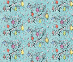 Paper Lantern Festival! fabric by pattyryboltdesigns on Spoonflower - custom fabric