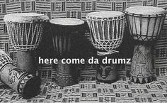 As it says on the tin peeps, it's all 'bout da drumz!