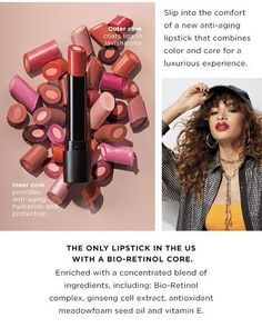 Did you all know that your lips age? Seriously, they sure do! And we have something to help them! You need to see the newest lipstick on the market! See it here >> 💄 💄 #BioRetinol #lipsticks #lipstick #lipstickaddict #lipsticklover #lipstickjunkie #lips #beauty #cosmetics #lipstickmatte #makeupaddict #redlipstick #lipstickcollection #makeuplover #fashion #lipsticklove #lip Avon Lipstick, Red Lipsticks, Outer Core, Lip Hydration, Hydrating Mask, Lipstick Collection, Seed Oil, Makeup Addict, Anti Aging