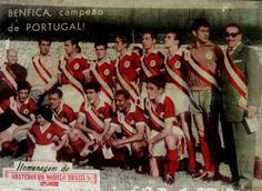 Benfica, 1954/55. Portuguese champion during their post-season Brasil tour.    Source: Esporte Ilustrado magazine, July 1955. Back-Cover.