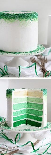 A delicious and Elegant cake! // Great for St. Patrick's Day!