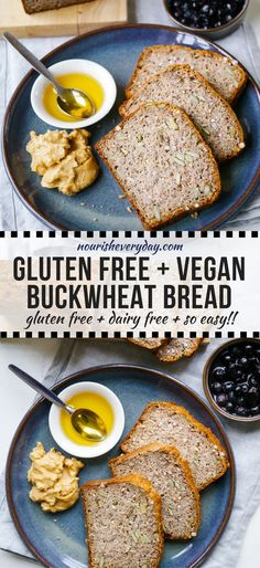 My go to V/GF bread! A healthy, and very easy recipe for a vegan buckwheat bread made gluten free using chia seeds, buckwheat flour and almond meal. Gluten Free Baking, Gluten Free Recipes, Vegan Recipes, Cooking Recipes, Cooking Tips, Freezer Recipes, Freezer Cooking, Drink Recipes, Dinner Recipes