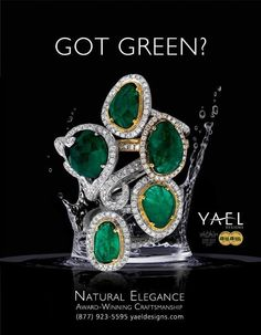 Got Green? Emeralds from Yael Designs Stop in to view their award winning collections! #BradleyGough #BradleyGoughDiamonds www.bradleygoughdiamonds.com