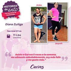 #HistoriaDeÉxito ¡Conoce la historia de nuestra #chicacurves Diana Zuñiga! 👏👏  👉https://goo.gl/3hoXAQ 👈 #sisepuede 💪 #logratusmetas #curvesfunciona 😎