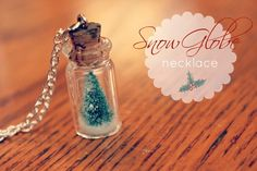 snow globe necklace \( ˚ • ˚ )/  <-hehe I made this