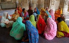Colors of Indian Women---I saw scenes just like this on my trip to India, when I would go to church in Indian villages in the south. www.christinelindsay.com