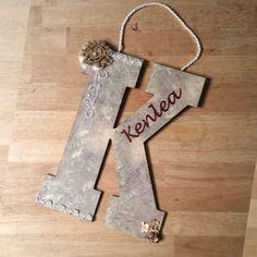 Custom Nursery Letters, Nursery Art, Baby Nursery Decor, Children's Wall Art, Custom Letters, Wall Letter, Custom Wood Letters, Wood Letters by LybelleCreations on Etsy
