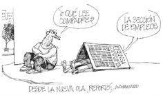 """Nuestra caricatura de hoy se titula:  """"Desde la nueva ola"""""""