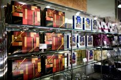 Art Deco style gift boxes from Karl Fazer Café.