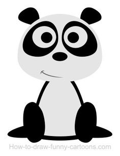 How to Draw a Panda. There are many ways to draw a panda. In this lesson, we will learn step-by-step examples drawing a panda quickly Easy Drawings Sketches, Outline Drawings, Animal Drawings, Panda Drawing, Drawing Drawing, Cute Panda Cartoon, Funny Cartoons, Panda Bear, Digital Illustration