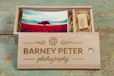 USB2U's Photo Slide Box (rectangle) in #maple wood finish. #packaging that oozes #quality