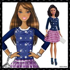 We're so excited to share the inspirational sketches behind our Fashionistas dolls! Take a look at how an idea turned into a Super Style reality. #BeSuper #BarbieOriginalArt Shop the link in our bio!