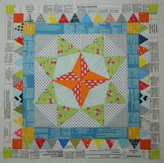 news print fabric - Marcelle Medallion quilt from Alexia Abegg's book Liberty Love