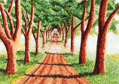 Foggy Tree Lined Road Card by MILESTOGOwithALI on Etsy, $4.00