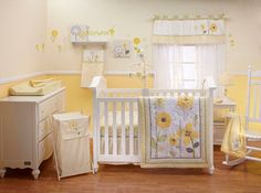 Bright Blossoms 9 Piece Baby Crib Bedding Set by Nojo