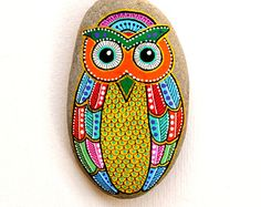 Hand Painted Stone Owl-ANOTHER one! LOVE it!