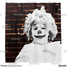 Clowns 4 shower curtain