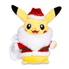 Pikachu Holiday 2014 Santa Poké Plush (Standard Size). Too cute! Must have one.