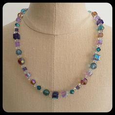 Swarovski Sterling Necklace Pierced Earring Set by NeutralNellies